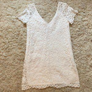 BB Dakota White Lace Shift Dress